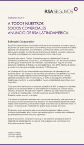 Comunicado RSA Latinoámerica